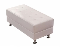 Rental store for Tufted White Bench 49  x 21  x 16.5 in San Francisco CA