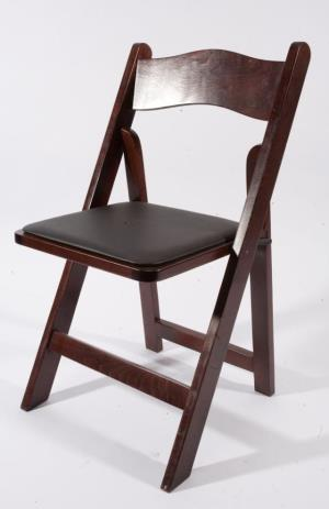 Where to find Mahogany Wood Chair w  Black Cushion in San Francisco