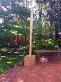 Rental store for 12  H Rustic Light Pole   Base in San Francisco CA