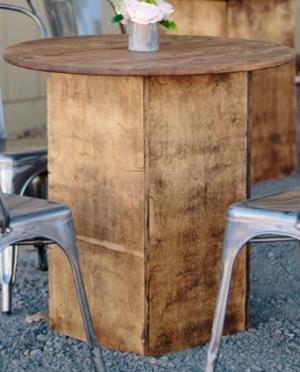 Where to find Rustic Wood Cafe Table 30  x 30 in San Francisco