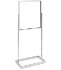 Rental store for Chrome Floor Standing Sign Holder 22x28 in San Francisco CA