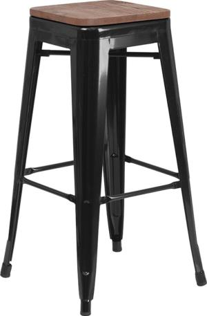 Where to find Wood Top Black Metal Bar Stool in San Francisco