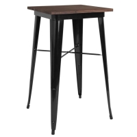 Rental store for Wood Top Black Metal Bar Table in San Francisco CA