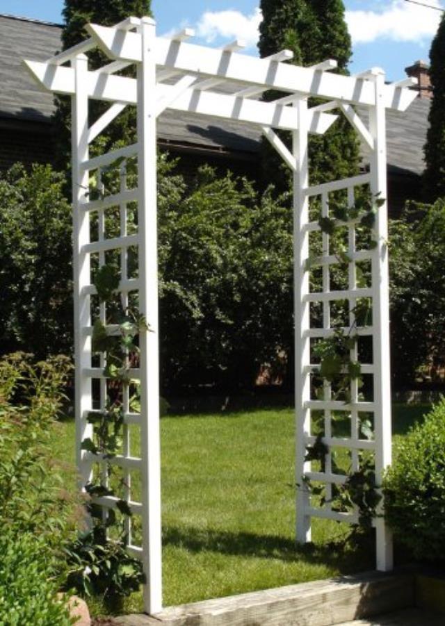 Wedding Arch White Lattice 1 Rentals San Francisco Ca