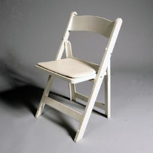 Where to find White Folding Padded Resin Chair in San Francisco