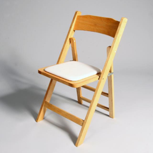 natural wood chair w ecru cushion rentals san francisco ca where