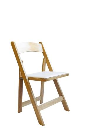 Where to find Natural Wood Folding Chair w  Ivory Pad in San Francisco