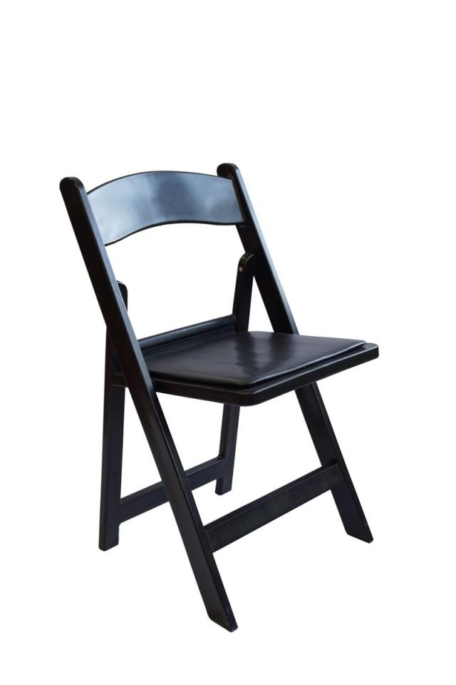 Where to rent Black Wood Chair w  Black Cushion in San Francisco Bay Area