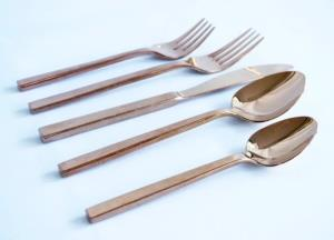 Where to find Arezzo Rose Gold Flatware in San Francisco