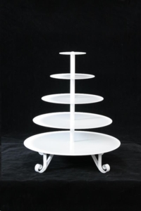 Rental store for White Round Cupcake Stand in San Francisco CA